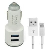 Plugue veicular C/ 2 entradas USB + Cabo Iphone 5
