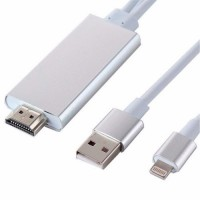 "Cabo 2x1 HDMI P/ USB 2.0 + Iphone 5/6 ""A5-01"""