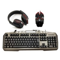 "Kit Gamer Teclado + Mouse e Headset - ""KMFON 6526"""