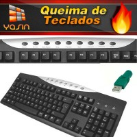 Teclado Multimidia - PS/2c/ adapt USB
