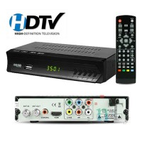 Conversor Digital p/ TV com visor led HDMI E USB ISDB-T