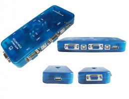 Switch KVM - 4 Portas VGA/USB